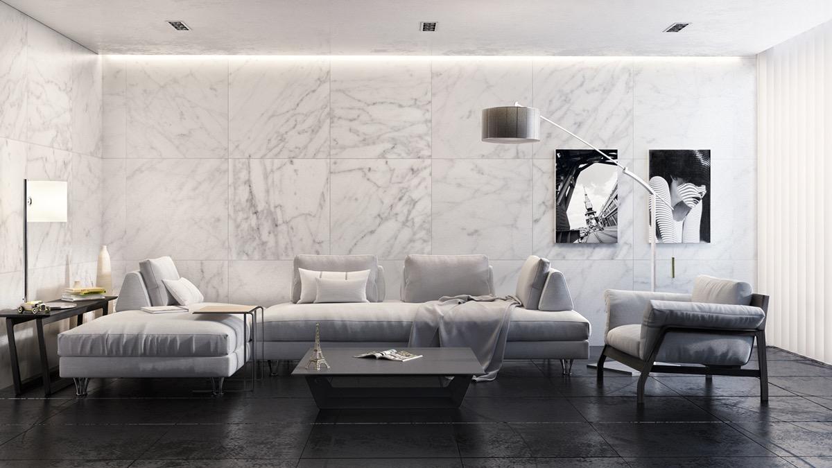 отделка квартиры натуральным камнем