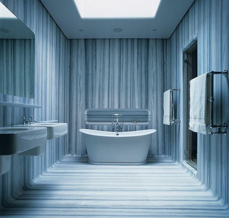 голубой мрамор в ванной