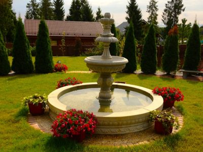 фонтан с розами