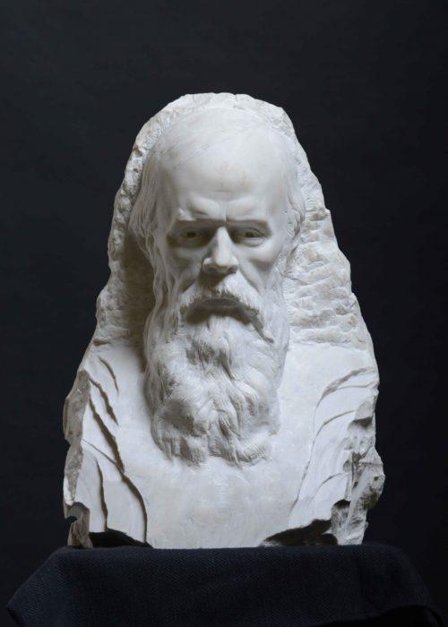 Фёдор Достоевский, мрамор, 50 см, 2015 г. 2
